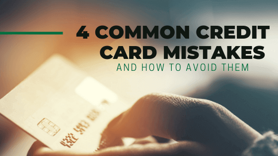 hand holding credit card avoiding mistakes