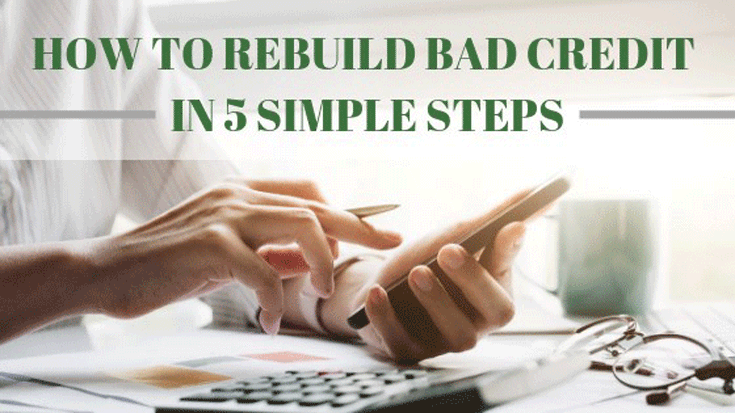 You can repair your credit in 5 simple steps