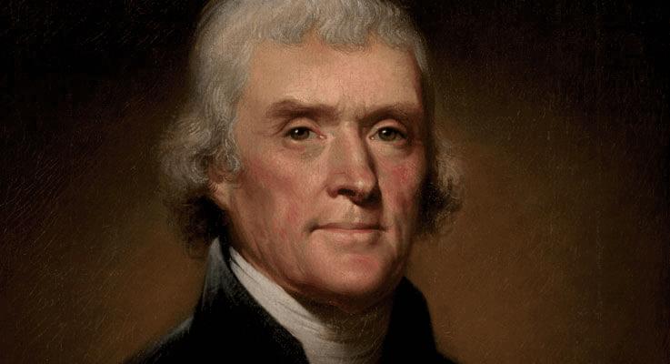 Thomas Jefferson declared bankruptcy
