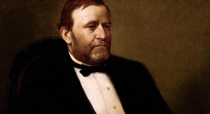 Ulysses Grant declared bankruptcy
