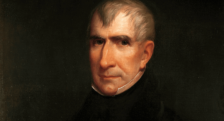 William Henry Harrison declared bankruptcy
