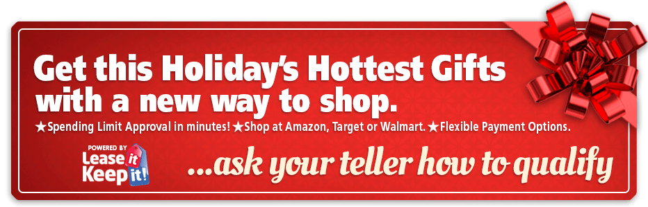 Get this Holiday's Hottest Gifts with a new way to shop. Ask your tell how to qualify.
