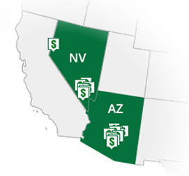 CASH 1 Locations in Arizona and Nevada