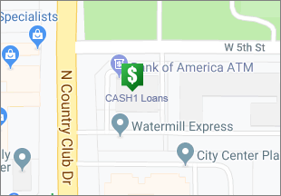Directions to CASH 1 Loans N Country Club Dr