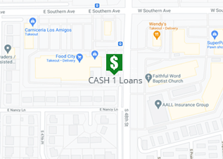 Directions to CASH 1 Loans East Southern