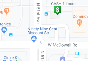 Directions to CASH 1 Loans W McDowell Rd