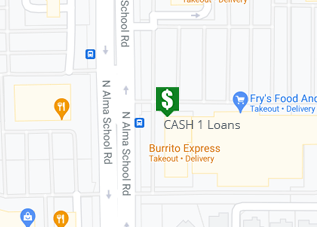 Directions to CASH 1 Loans W Elliot Rd