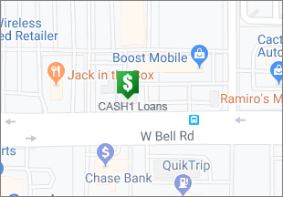 Directions to CASH 1 Loans W Bell Rd