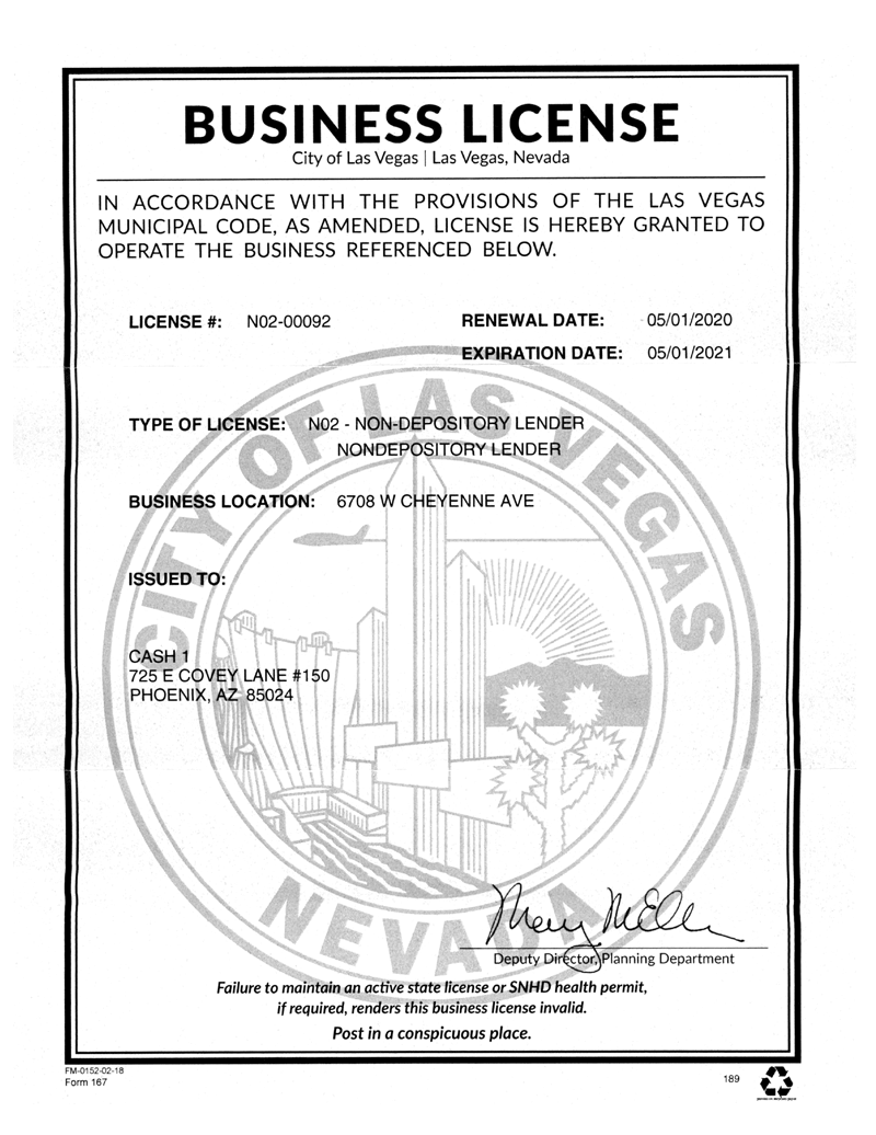 City of Las Vegas Business License