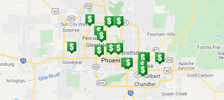 CASH 1 Phoenix Locations