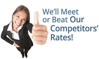 We'll Meet or Beat Our Competitors' Rates